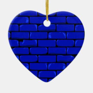 Dark Blue Wall Ceramic Heart Decoration