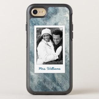 Dark Blue Watercolor | Add Photo OtterBox Symmetry iPhone 8/7 Case