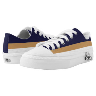 Dark Blue with Gold and White Lo-Top