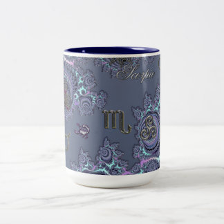 Dark Blue Zodiac Sign Scorpio Mystical Two-Tone Coffee Mug