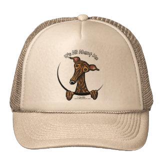 Dark Brindle Greyhound IAAM Cap