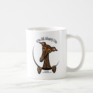 Dark Brindle Greyhound IAAM Coffee Mug