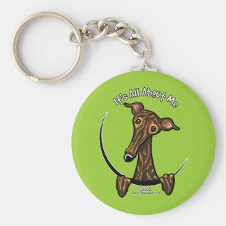 Dark Brindle Greyhound IAAM Key Ring