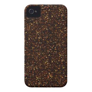 Dark Bronze Orange Glitter iPhone 4 Case-Mate Cases