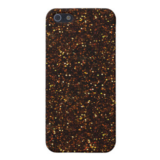 Dark Bronze Orange Glitter iPhone 5 Cover
