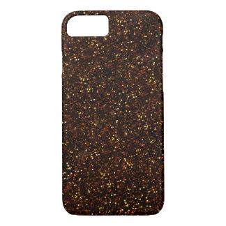 Dark Bronze Orange Glitter iPhone 7 Case