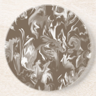 Dark Brown and White Mixed color design coaster