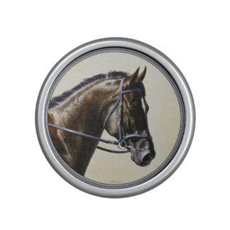 Dark Brown Bay Trakehner Dressage Horse Speaker