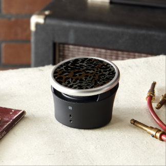 Dark Brown Black Cheetah Abstract Bluetooth Speaker