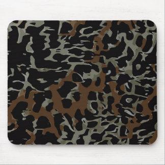 Dark Brown Black Cheetah Abstract Mouse Pad
