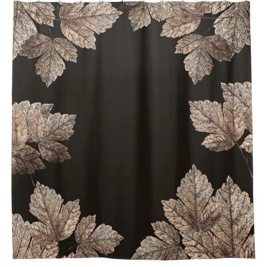 Dark Brown & Bronze Leaves Rustic Glam Fall