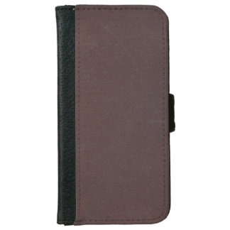 Dark Brown Faux Leather iPhone 6 Wallet Case