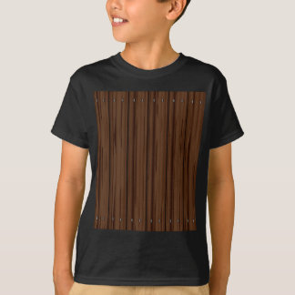 Dark Brown Fence Fence T-Shirt