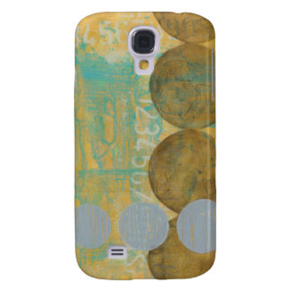 Dark Brown & Grey Circles with Numbers Numbers Galaxy S4 Case