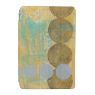 Dark Brown & Grey Circles with Numbers Numbers iPad Mini Cover