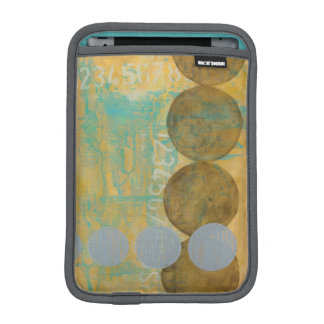 Dark Brown & Grey Circles with Numbers Numbers iPad Mini Sleeve