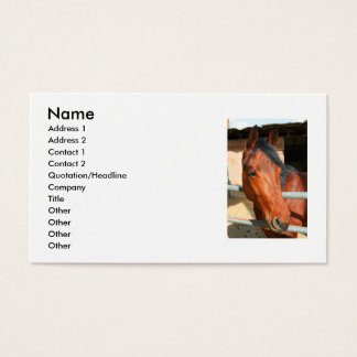 Dark Brown Horse Business Card
