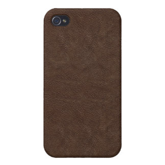 Dark Brown Leather Look  iPhone 4 Case