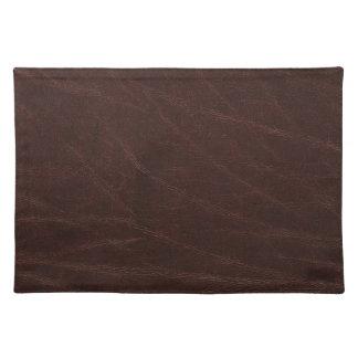 Dark Brown Leather Print Placemat