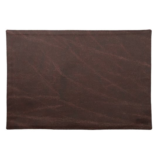 Dark Brown Leather Print Placemats