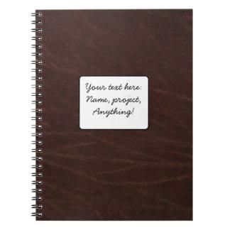 Dark Brown Leather Spiral Notebook