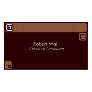 Dark Brown Masculine Business Card