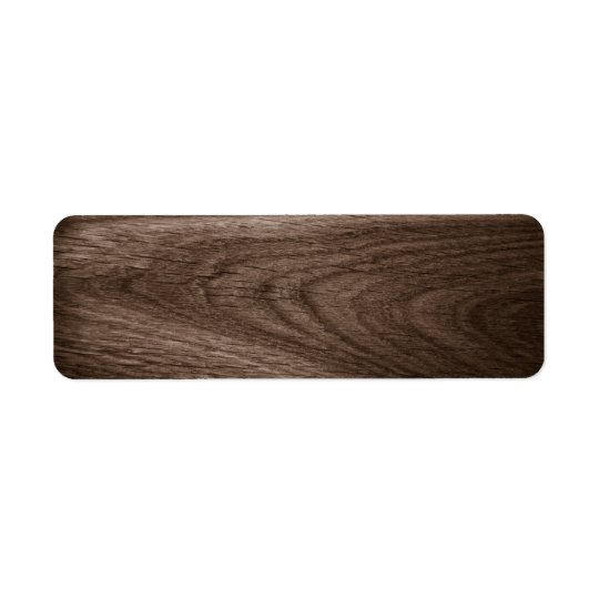 Dark brown oak wood grain blank return address