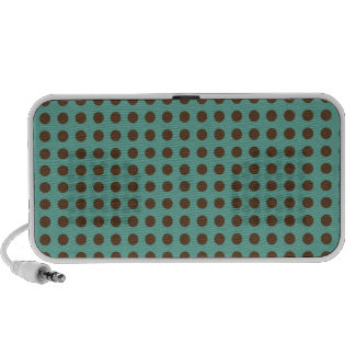 DARK BROWN POLKADOTS MINTY GREEN BACKGROUNDS DOTS LAPTOP SPEAKERS