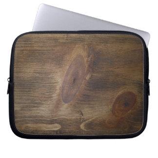 """Dark Brown Rustic Wood Look Background - 10"""" ONLY Laptop Sleeve"""