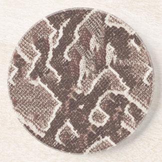 Dark Brown Snake Skin Beverage Coaster