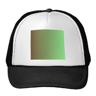 Dark Brown to Mint Green Vertical Gradient Cap