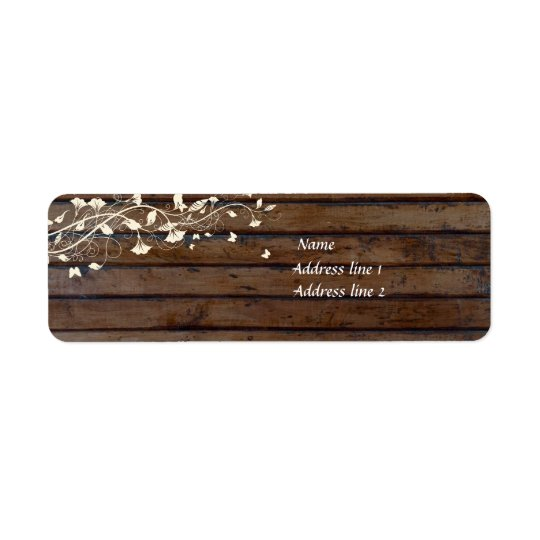 Dark Brown Wood Address Labels