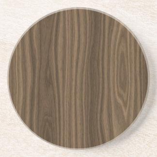 Dark Brown Wood Grain Coasters