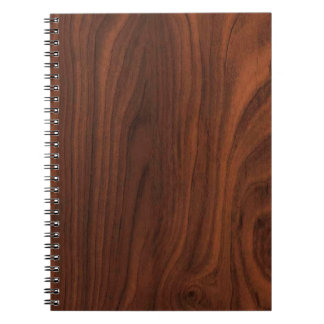 Dark Brown Wood Look Notebook