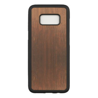 Dark Brown Wood on Carved Samsung Galaxy S8 Case