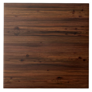 Dark brown wood tile
