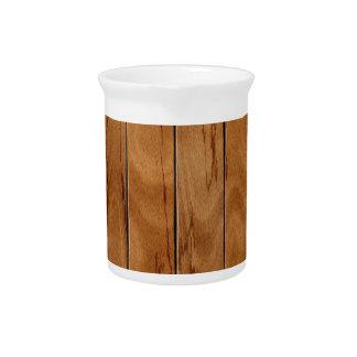 Dark brown wooden floor texture pitcher