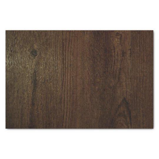 Dark Brown Woodgrain Tissue Paper