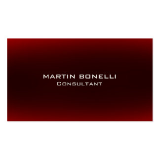 Dark Browny Red Indestructible Plain Clean Pack Of Standard Business Cards