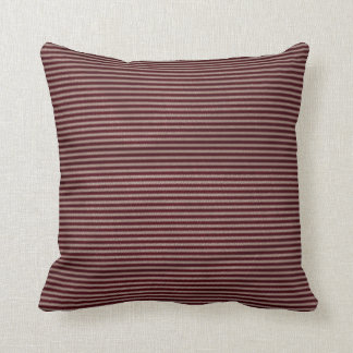dark burgundy red stripes cushion