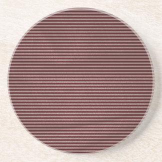 dark burgundy red stripes drink coasters