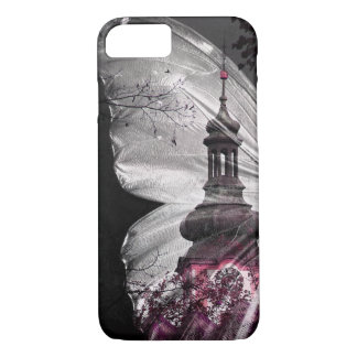 Dark Butterfly Wing Clock Tower Phone Case