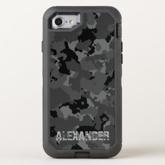 Dark Camo Name Template OtterBox Defender iPhone 7 Case
