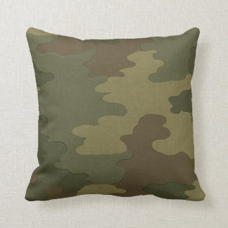 Dark Camouflage Pillow