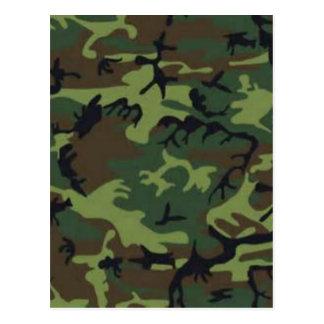 Dark camouflage postcard