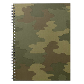 Dark Camouflage Spiral Notebook