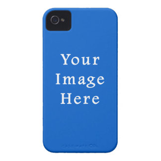 Dark Cerulean Blue Color Trend Blank Template iPhone 4 Cases