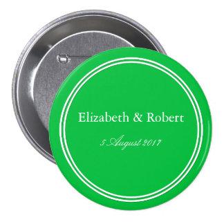 Dark Chalky Pastel Green Wedding Decoration Set 7.5 Cm Round Badge