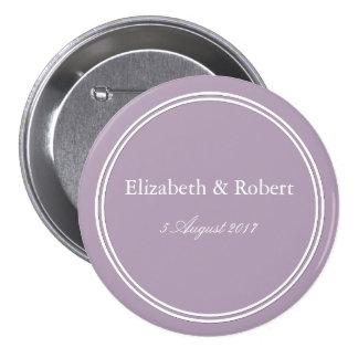 Dark Chalky Pastel Purple Wedding Decoration 7.5 Cm Round Badge
