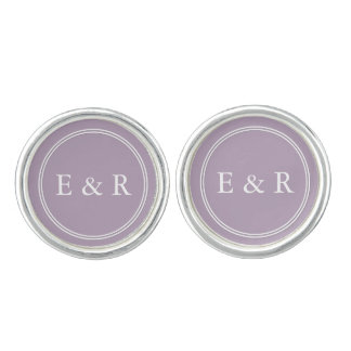 Dark Chalky Pastel Purple Wedding Party Gifts Cuff Links